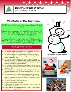 Snowman Rules
